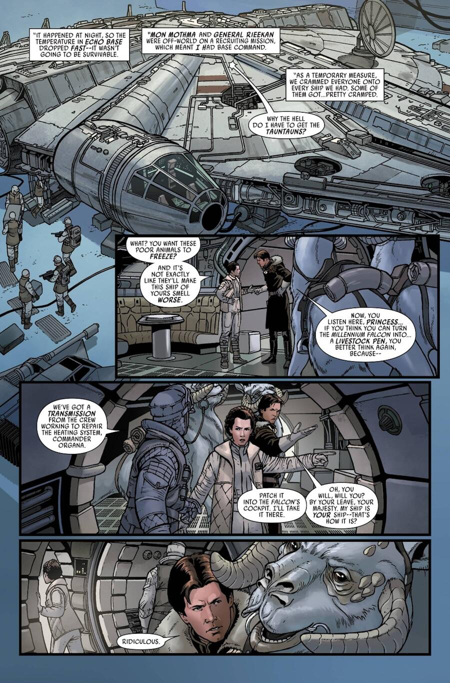 STAR WARS #12 interior art by Ramon Rosanas with colors by Rachelle Rosenberg and letters by VC's Clayton Cowles