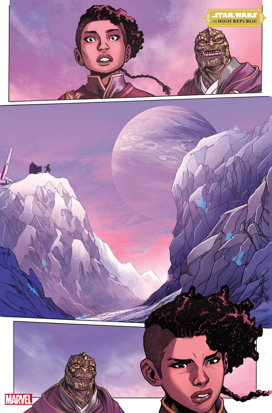 STAR WARS: THE HIGH REPUBLIC #4 preview art by Ario Anindito with inks by Mark Morales and colors by Annalisa Leoni