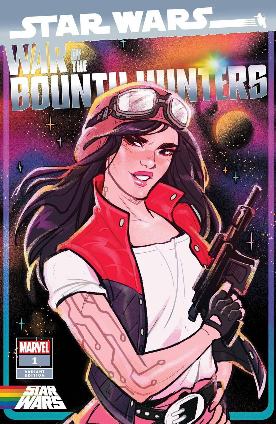 STAR WARS: WAR OF THE BOUNTY HUNTERS #1 PRIDE VARIANT COVER by BABS TARR (APR210950)