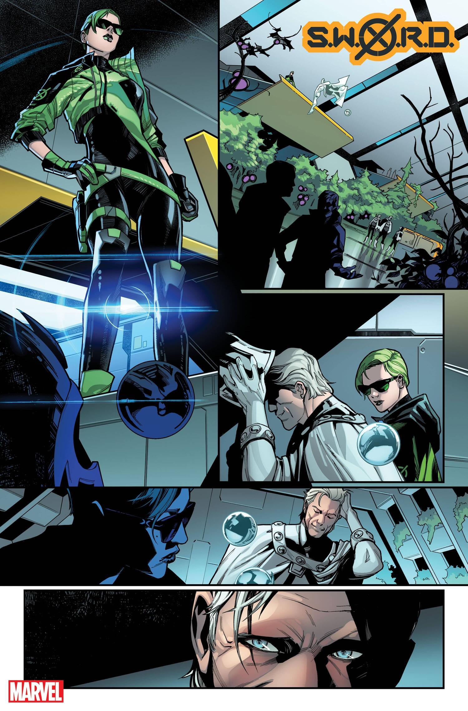 S.W.O.R.D. #1 preview pages by Valerio Schiti with colors by Marte Gracia