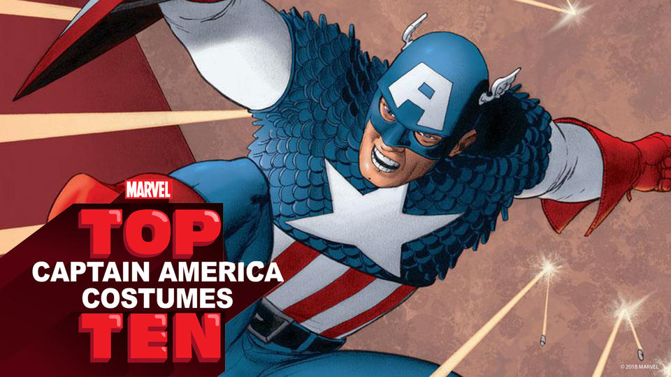 Top 10 Captain America Costumes logo