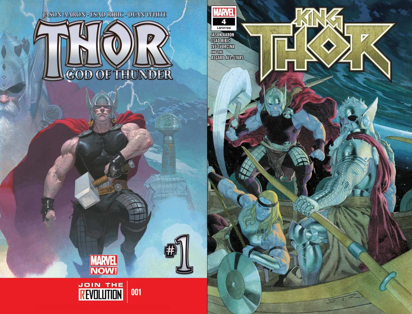 The first and last solo issues of Jason Aaron's seven-year run with Thor