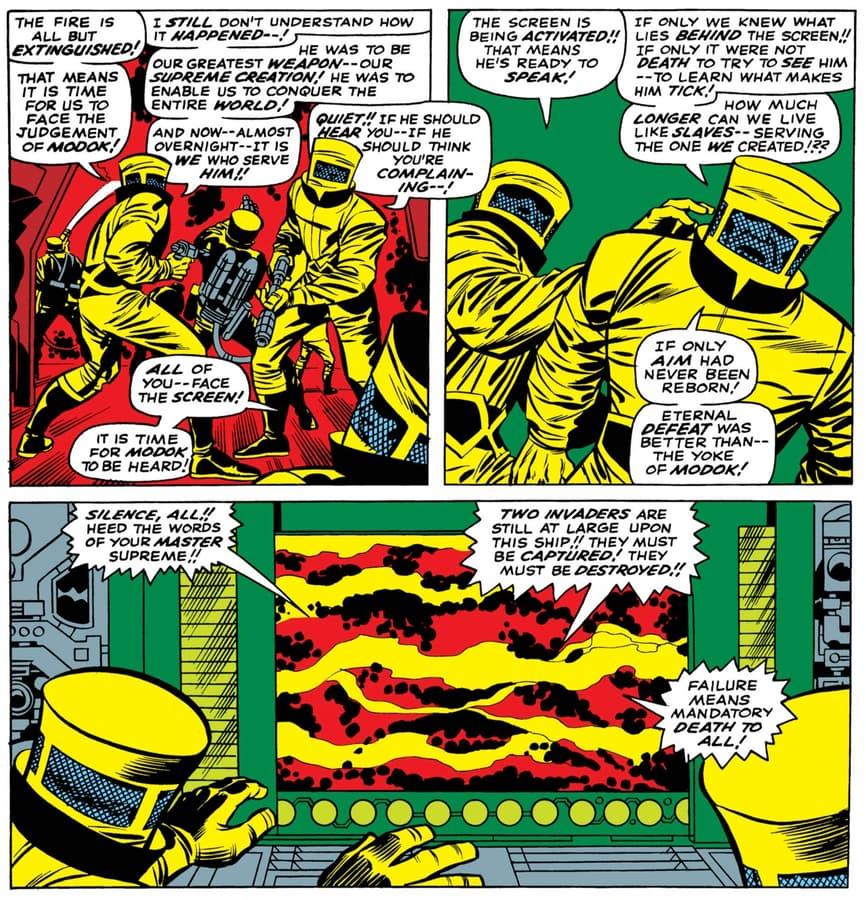 Agenti AIM che prendono ordini in TALES OF SUSPENSE (1959) # 93.