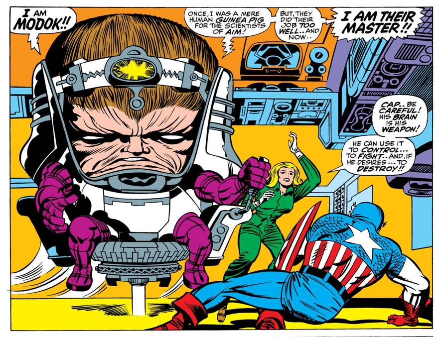 La prima apparizione completa di MODOK in TALES OF SUSPENSE (1959) # 94.