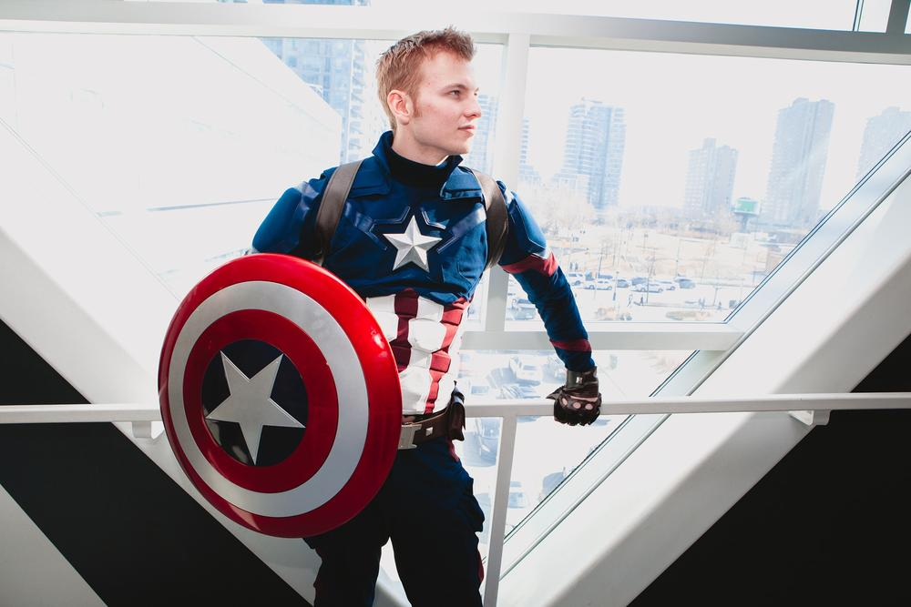 Tanner Robillard-Young AKA The Woodstock Captain as Captain America