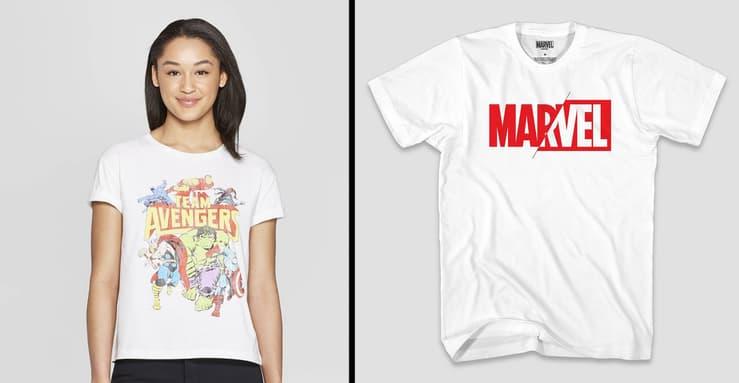 Target Avengers Endgame t-shirts