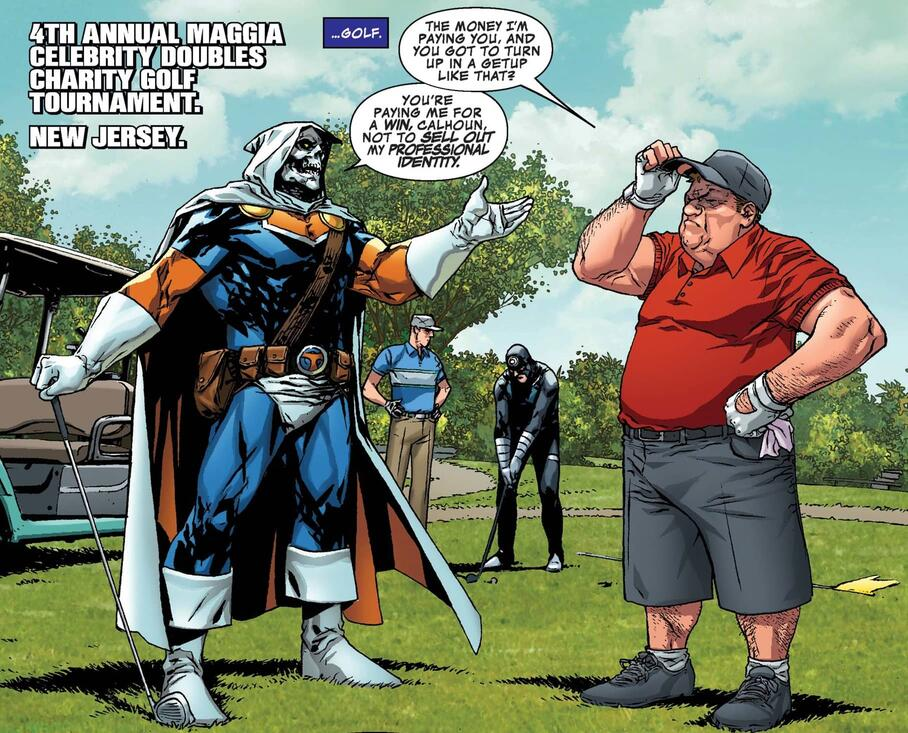 Taskmaster takes on a golf course.