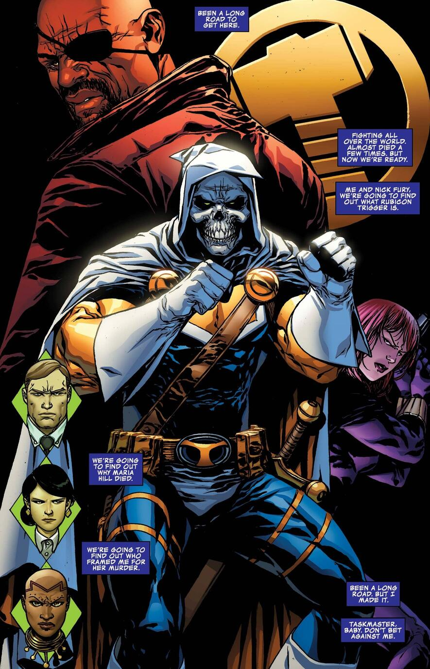 Taskmaster reflects on his past sparring partners in TASKMASTER (2020) #5.