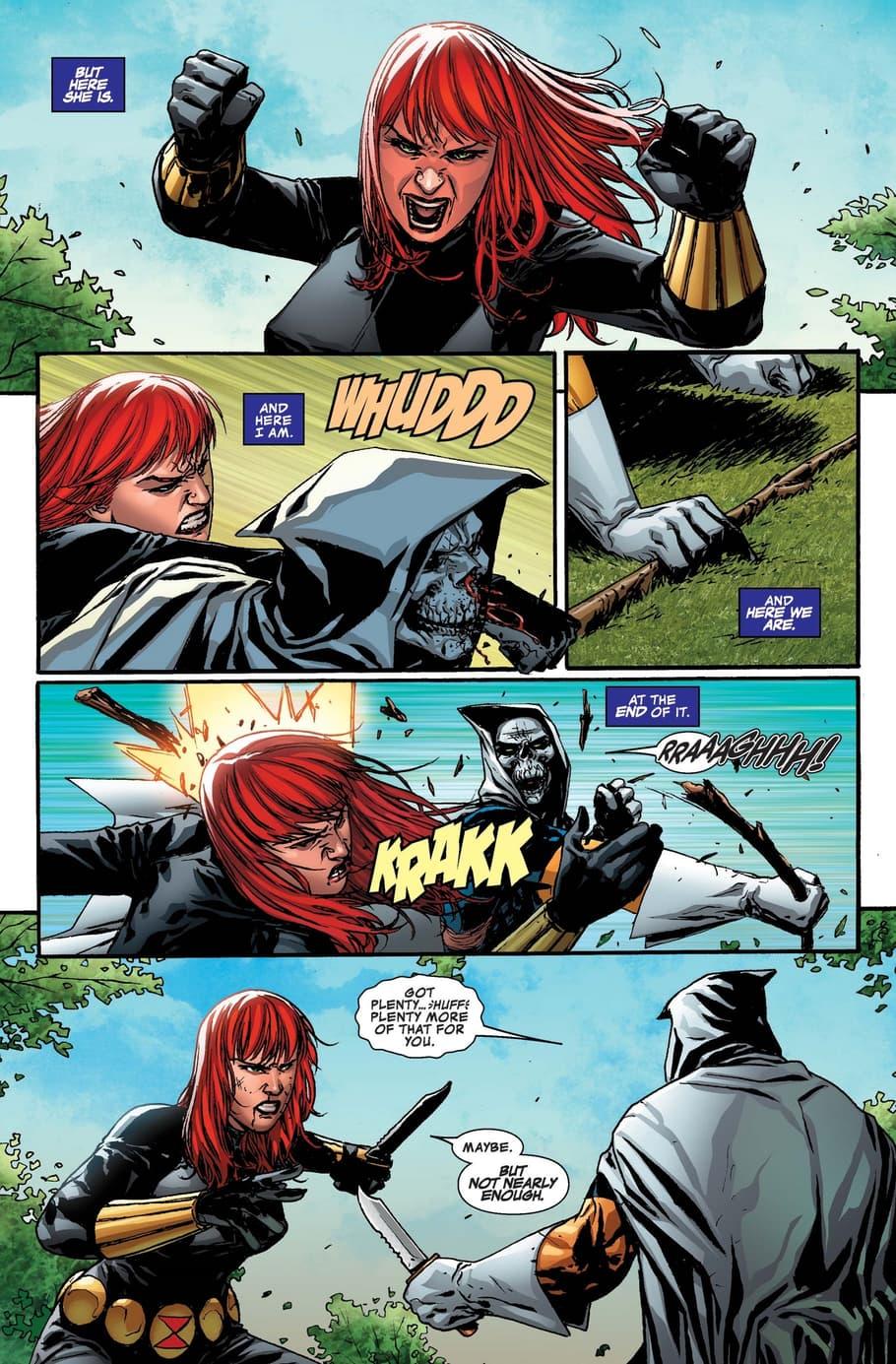 Black Widow versus Taskmaster in TASKMASTER (2020) #5.