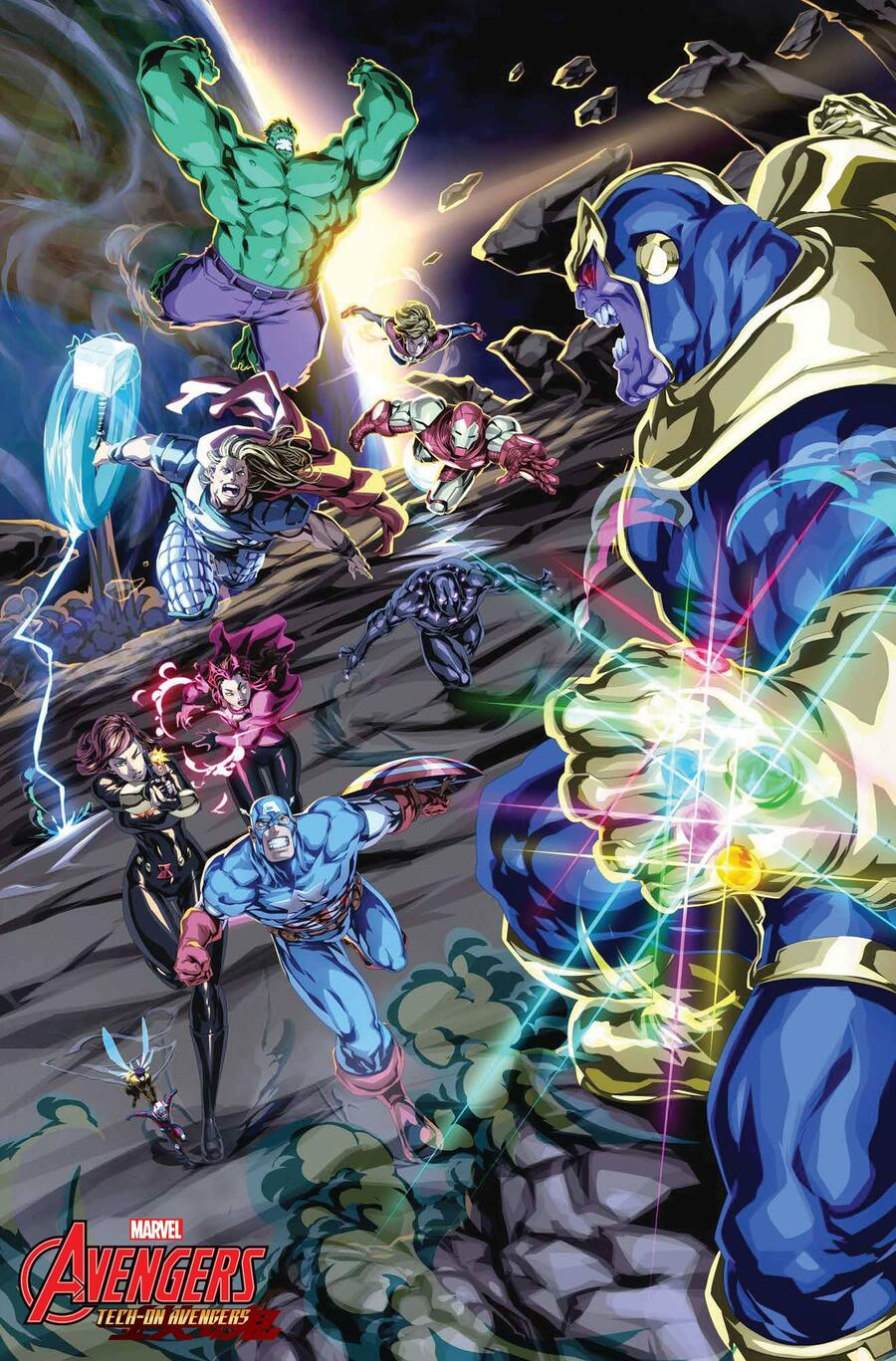 TECH-ON AVENGERS #1 preview art by Chamba
