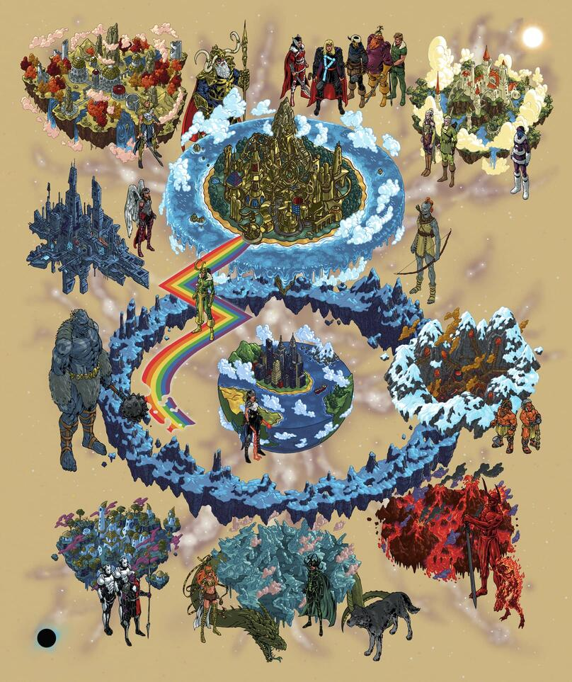 """""""Ten Realms of Asgard"""" by Andrew DeGraff"""