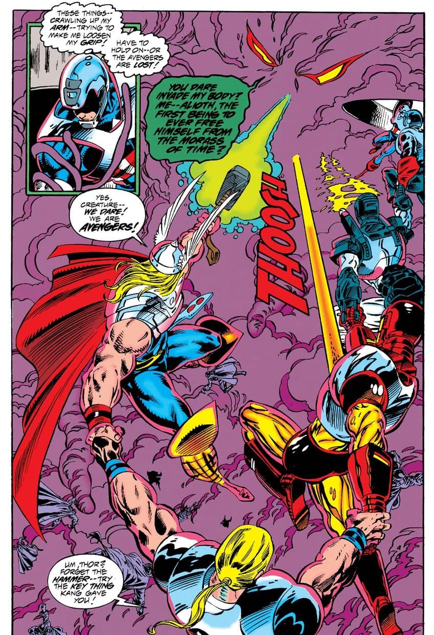The Avengers versus Alioth!