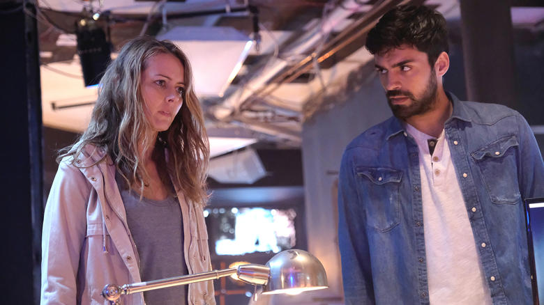 Amy Acker and Sean Teale in The Gifted