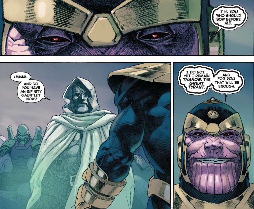 Doom kills Thanos