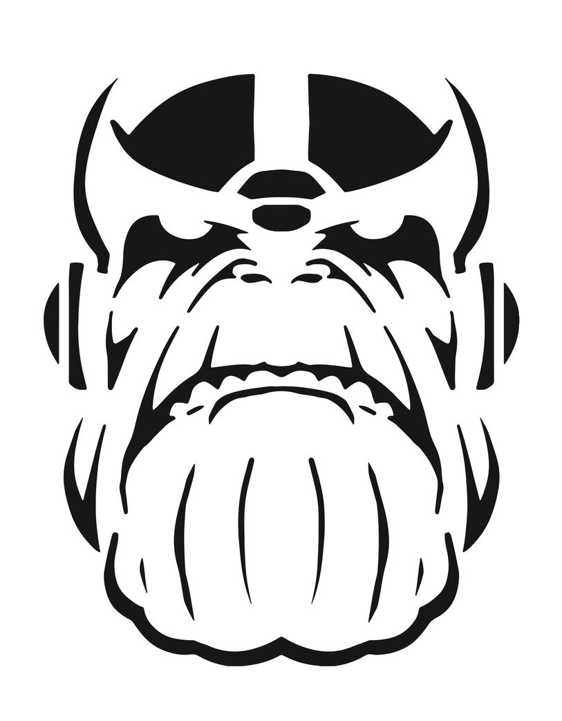 Thanos Pumpkin Stencil