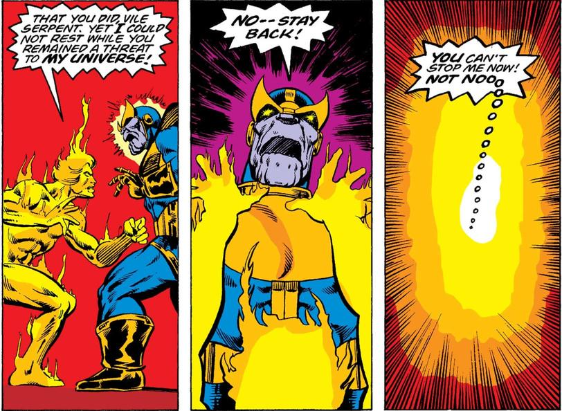 Thanos vs. Adam Warlock