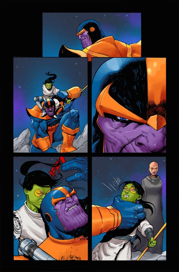 THANOS #6 interiors by Ariel Olivetti and Antonio Fabela