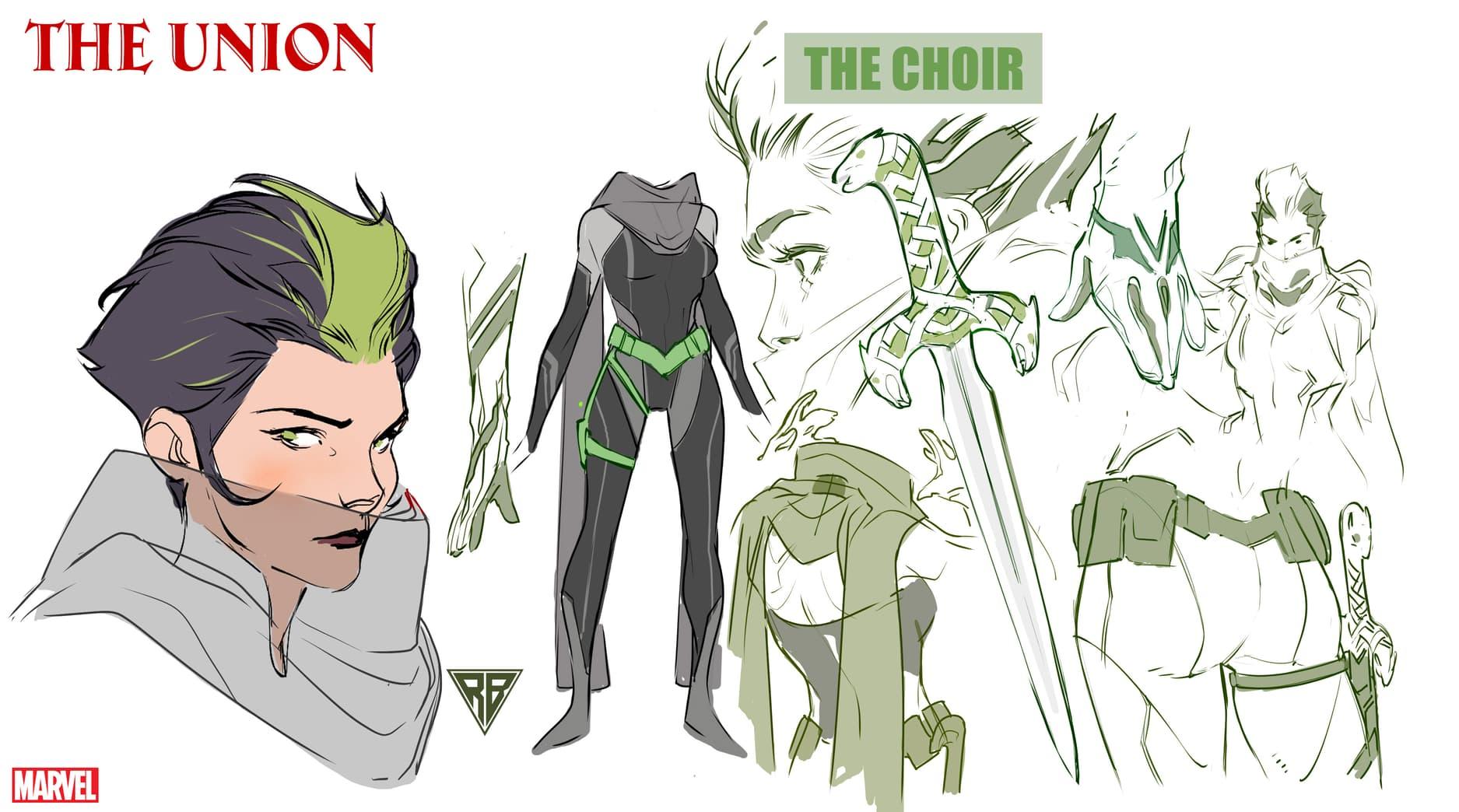 The Choir character design by R.B. Silva