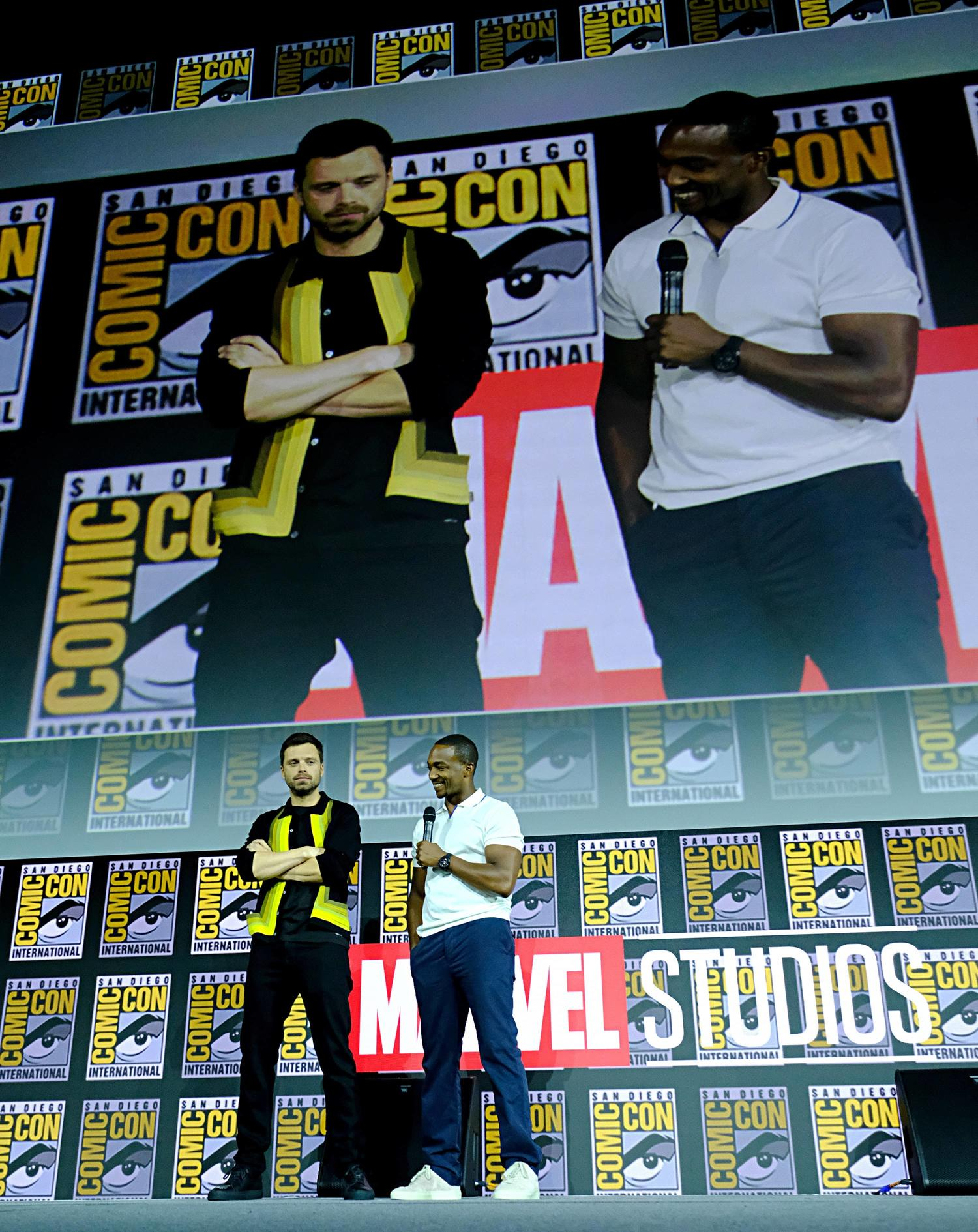 Stars Anthony Mackie and Sebastian Stan