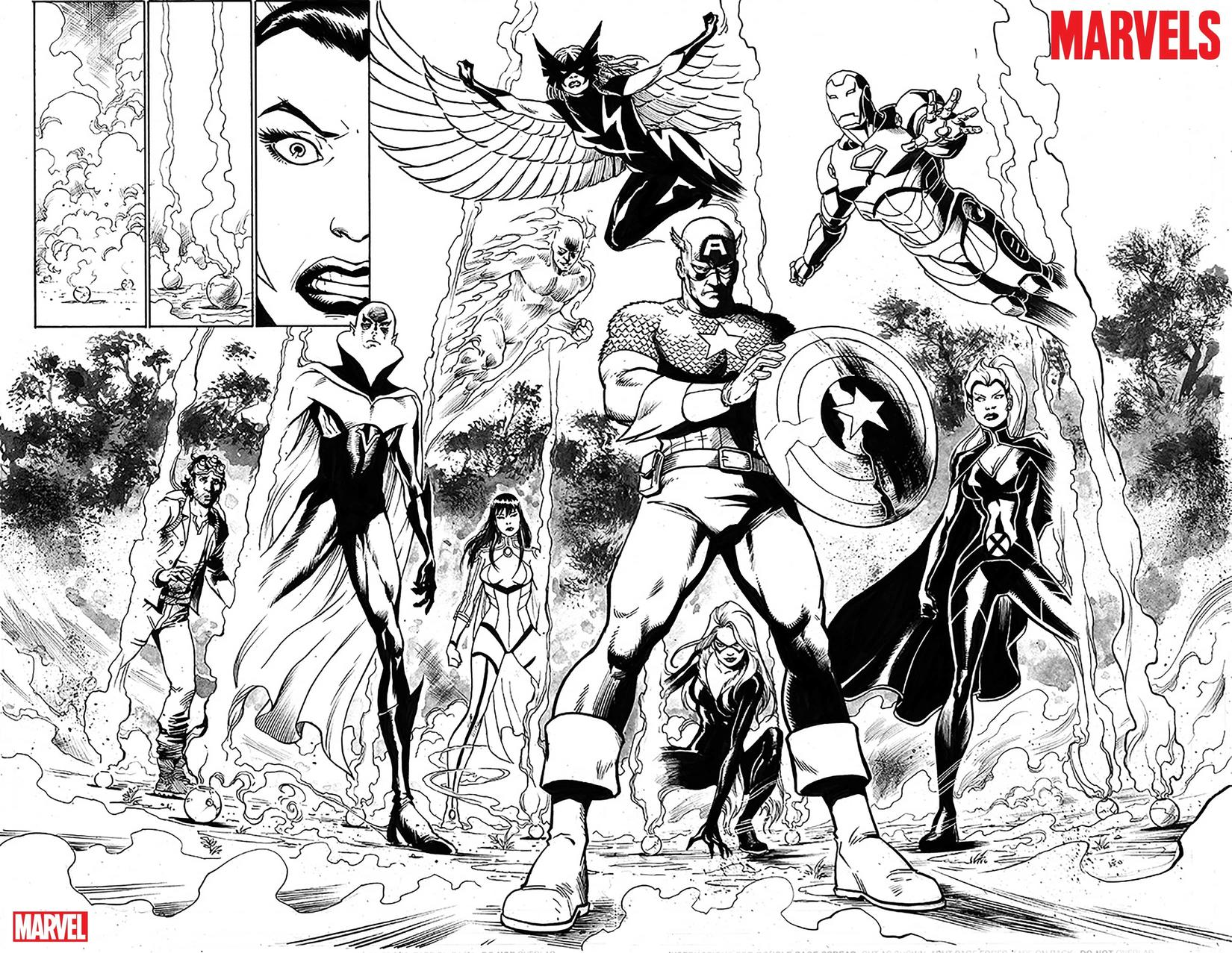 THE MARVELS #1 preview inks by Yildiray Cinar