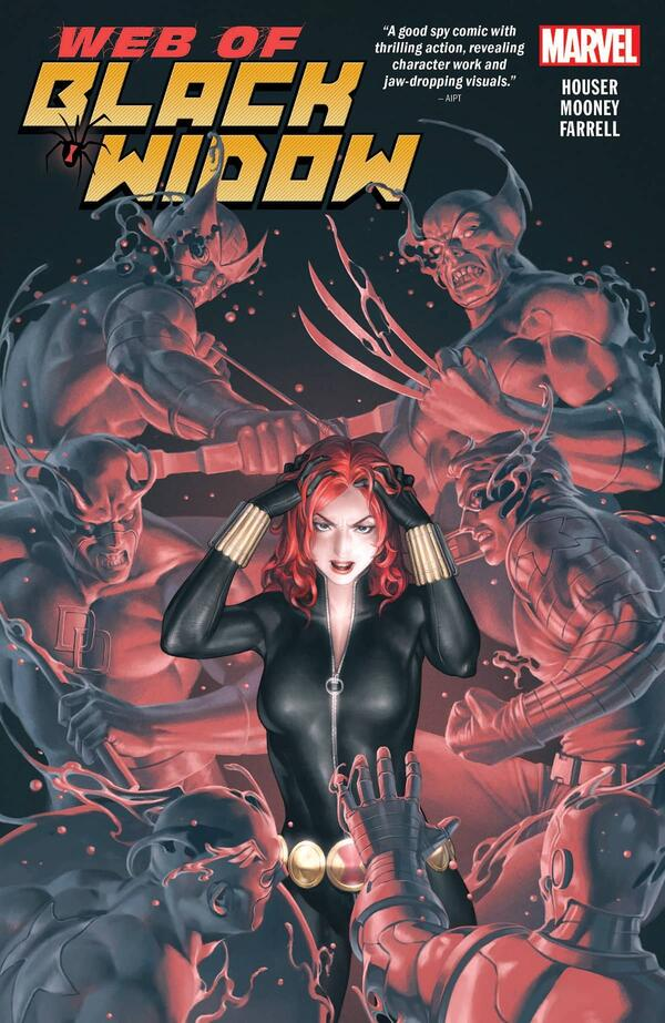 Cover to THE WEB OF BLACK WIDOW.