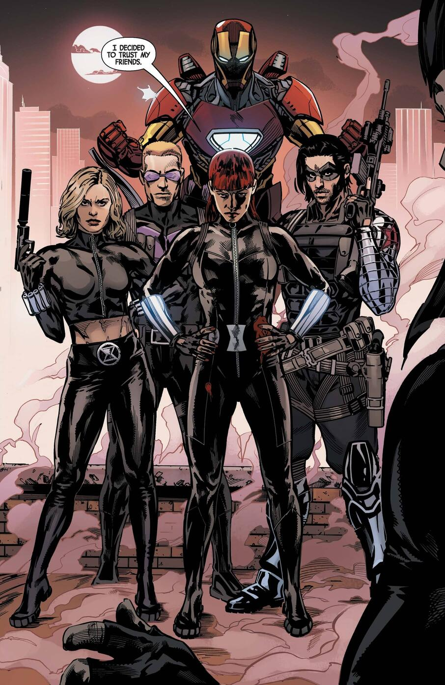 Black Widow and her ally crew assemble in THE WEB OF BLACK WIDOW (2019) #5.