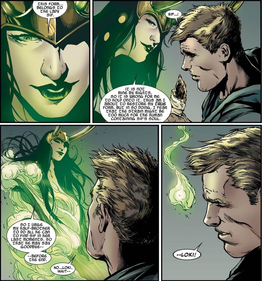 Loki using Sif's body