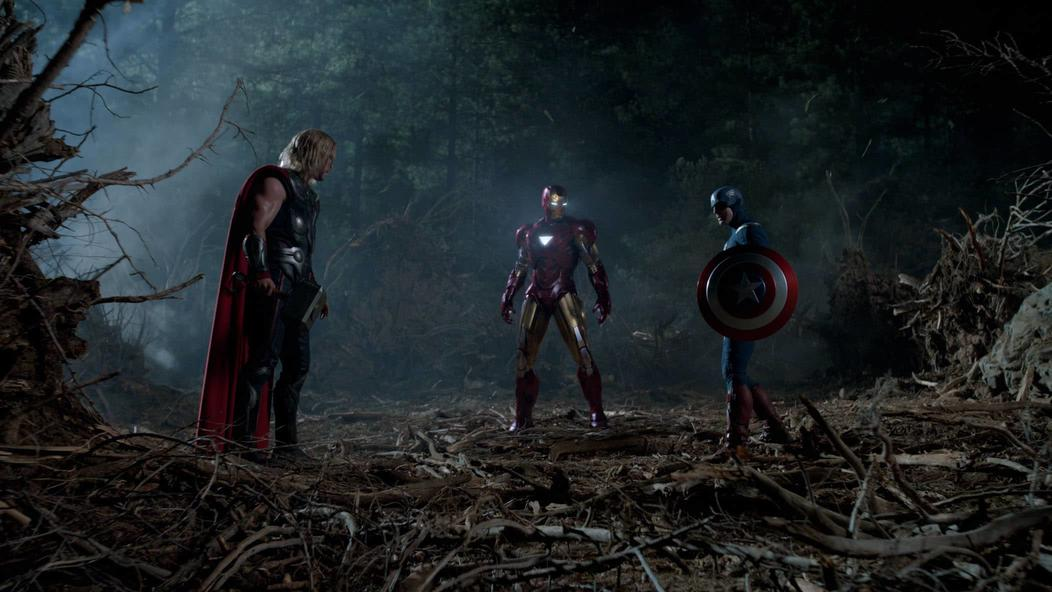 Thor meets Tony and Cap