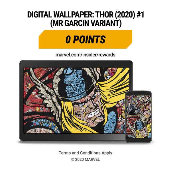 Marvel Insider Marvel Unlimited Reading Challenge MR Garcin Variant Cover THOR (2020) #1 Digital Wallpaper