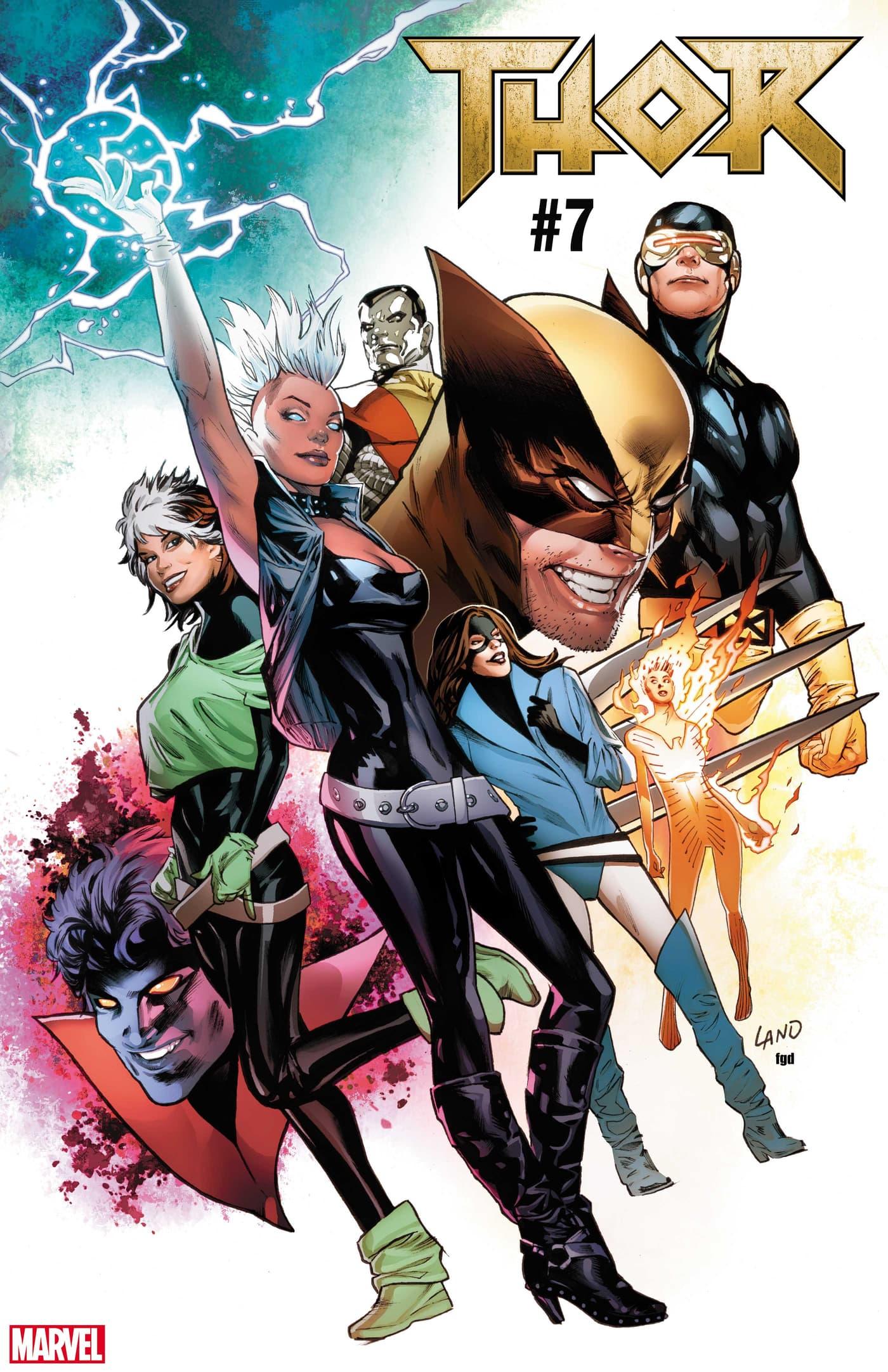 THOR #7 / UNCANNY X-MEN VARIANT COVER by Greg Land
