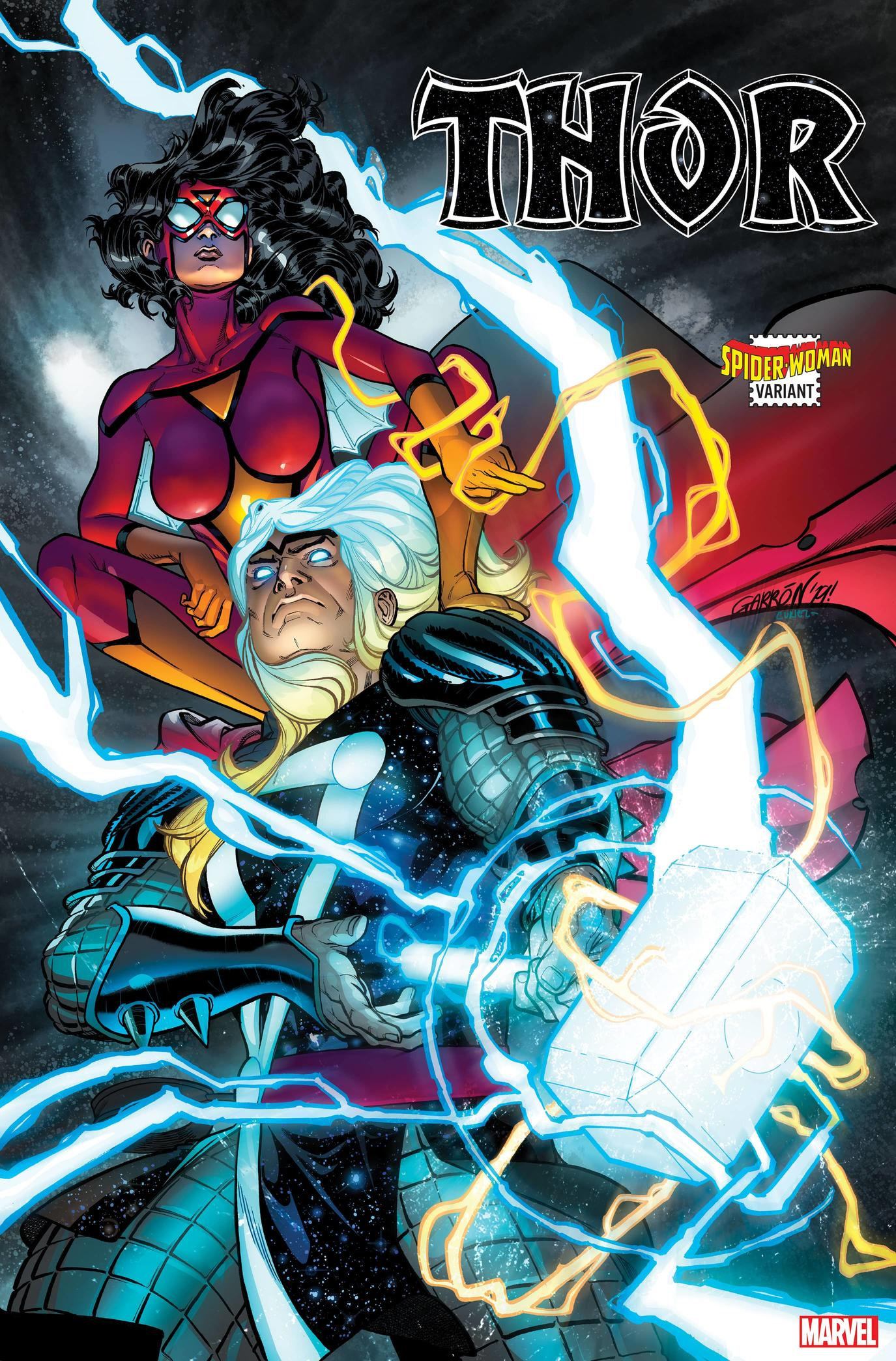 THOR #4 SPIDER-WOMAN VARIANT by JAVIER GARRÓN with colors by DAVID CURIEL