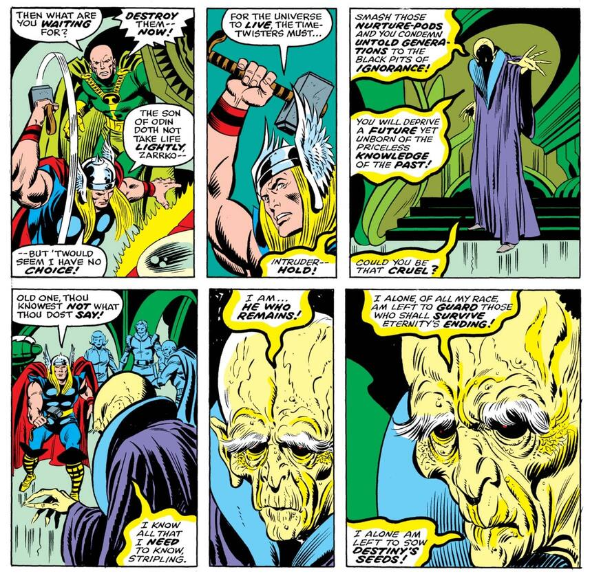 He Who Remains introduces himself to Thor.
