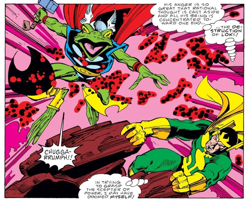 Frog Thor vs. Loki!