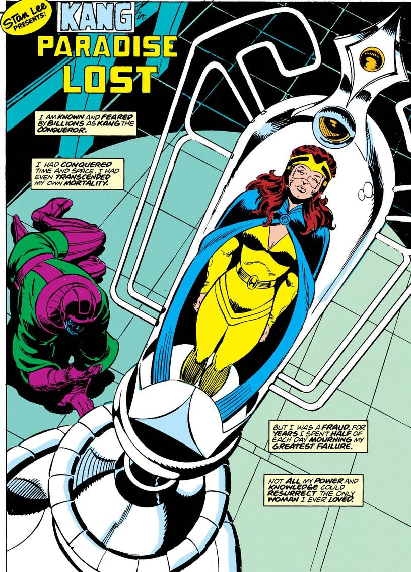 Kang longingly watches Ravonna in stasis in THOR ANNUAL (1966) #17.