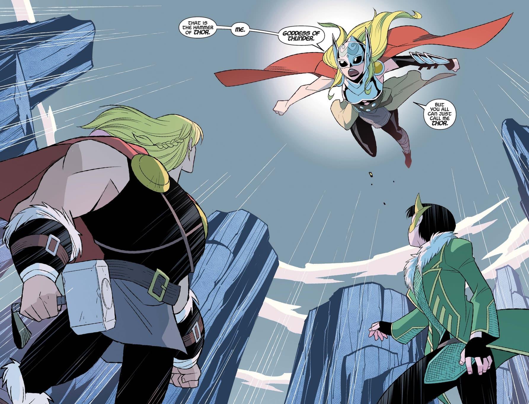 Jane Foster: Thor intercedes on Thor and Loki's behalf.