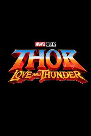 Thor: Love and Thunder Movie Logo On Black