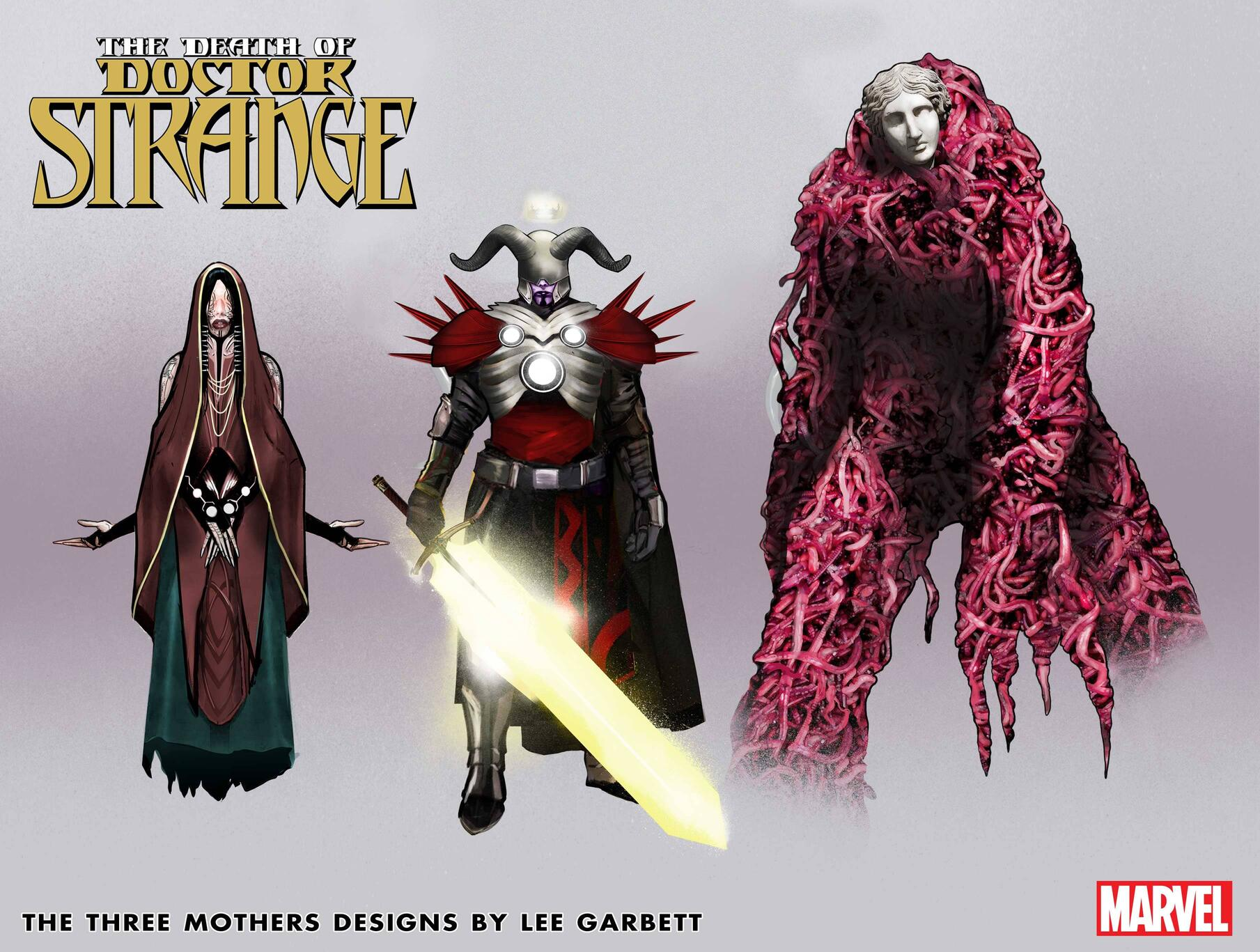 The Three Mothers character designs
