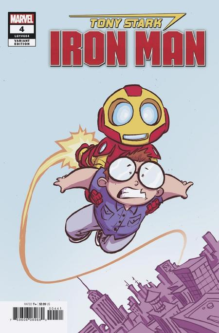 Tony Stark: Iron Man variant by Skottie Young