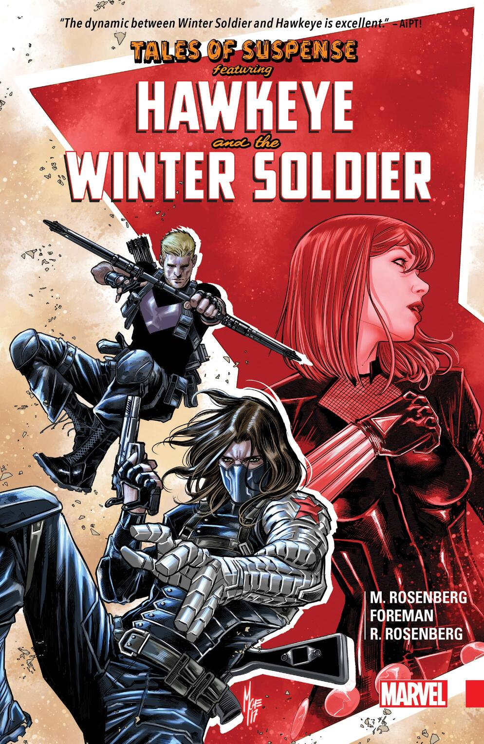 Cover to  Tales of Suspense: Hawkeye & The Winter Soldier.