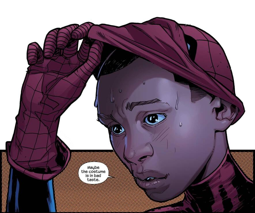 Miles Morales' first appearance in ULTIMATE FALLOUT (2011) #4.