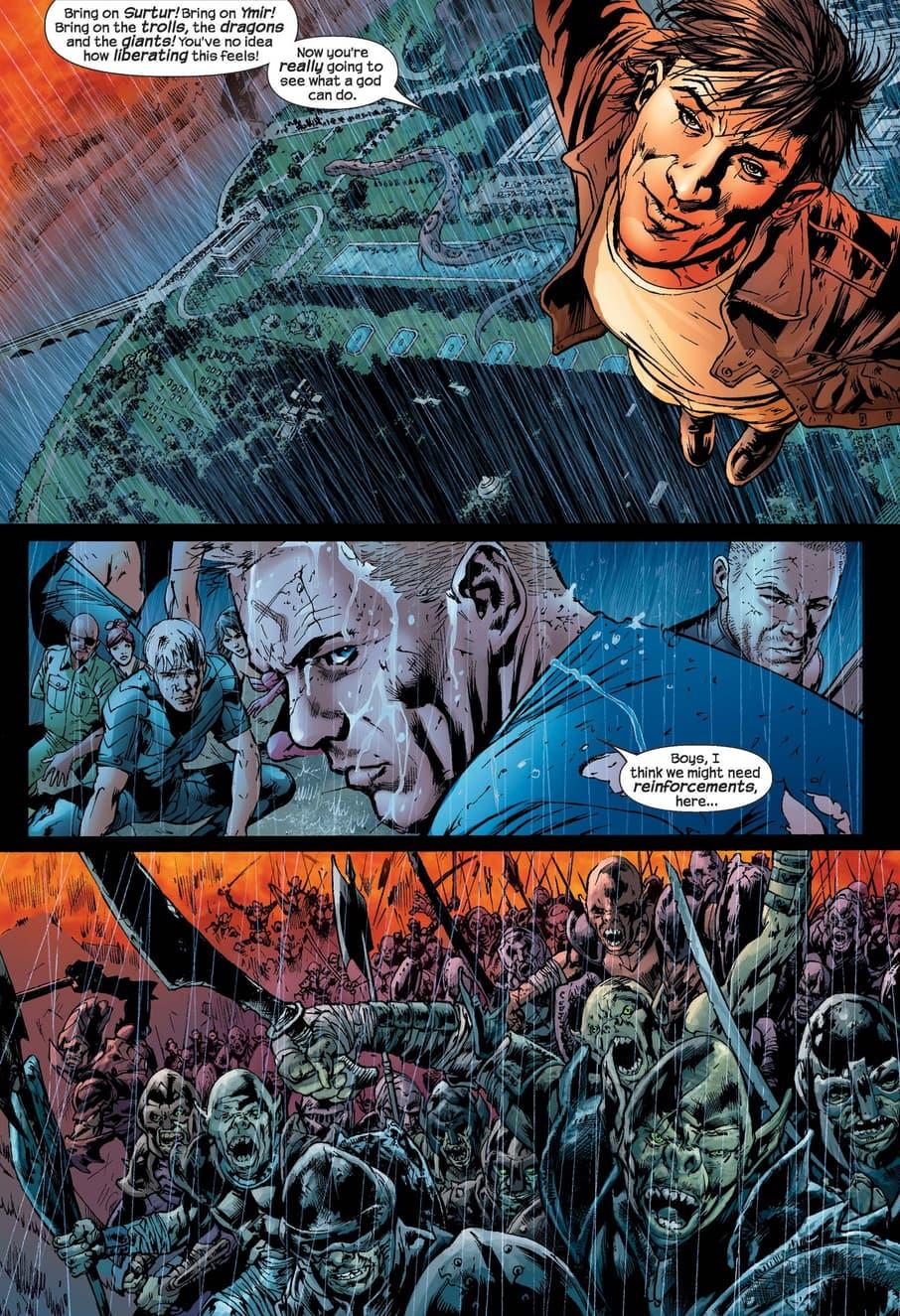 Ultimate Loki's true nature revealed in ULTIMATES 2 (2004) #13.