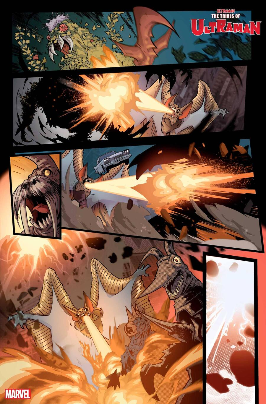 THE TRIALS OF ULTRAMAN #1 preview pages by Francesco Manna with colors by Espen Grundetjern