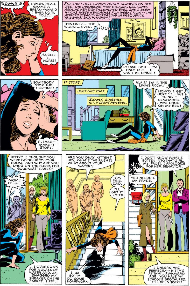 Kitty Pryde and Emma Frost debut