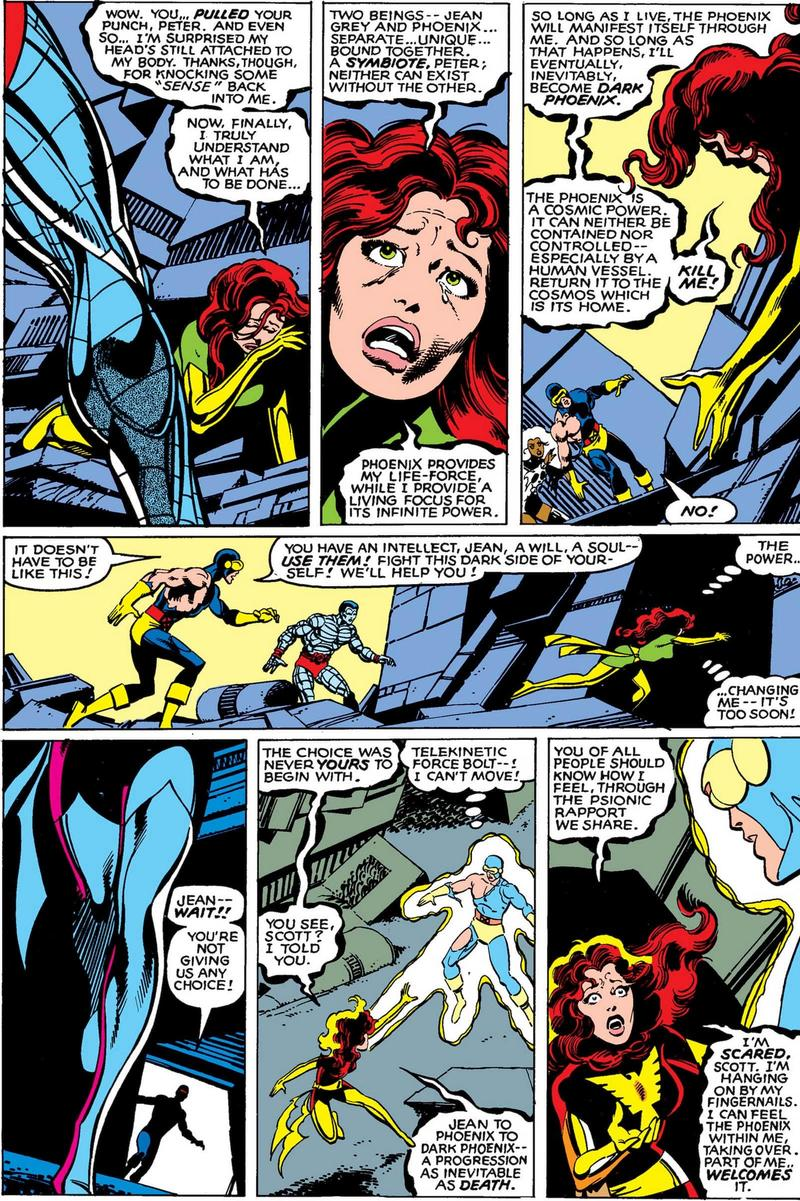 Jean Grey sacrifices herself
