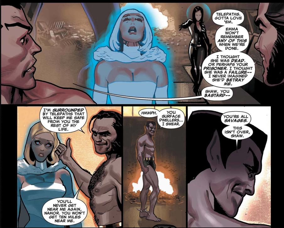 Emma Frost has her memories of Namor wiped