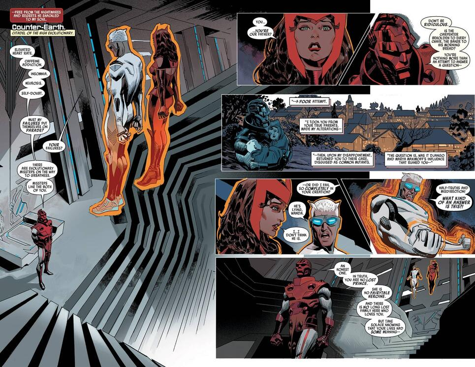 The twins' origin revealed in UNCANNY AVENGERS (2015) #4,