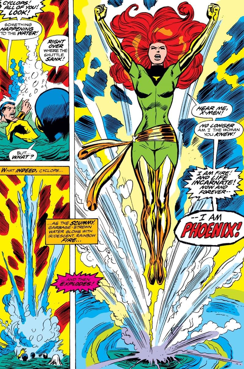 Jean Grey rises as the Phoenix!