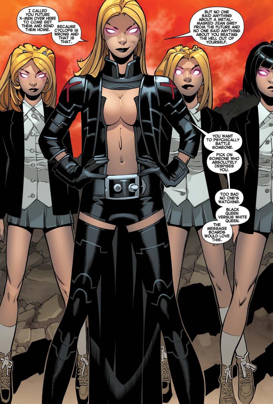 Emma Frost's black uniform from UNCANNY X-MEN (2013) #12.