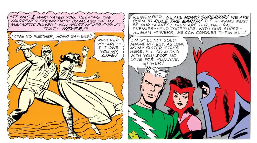 A history with Magneto explained in UNCANNY X-MEN (1963) #4.