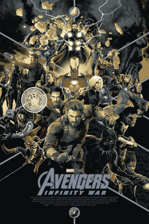 SDCC Mondo Exclusive Infinity War (Variant) poster